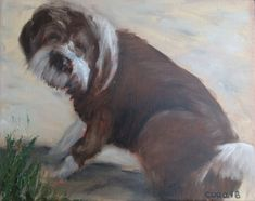 Oil Paintings, Dogs, Animals, Animales, Animaux, Doggies, Oil On Canvas, Animais, Dog
