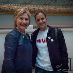 Samantha Ronson and Hilary Clinton