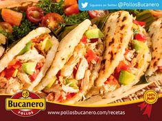 AREPAS RELLENAS DE POLLO.- Summer Rolls, Lettuce Wraps, Tamales, Enchiladas, Tacos, Meals, Instagram, Ethnic Recipes, Food