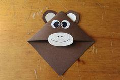 Segnalibro di angolo di scimmia