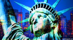 Statue of LIberty/NY Skyline Montage