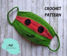 Crochet Ninja Turtle face mask pattern for kids Crochet face Crochet Mask, Crochet Faces, Crochet Teddy, Cotton Crochet, Crochet For Kids, Free Crochet, Beginner Crochet, Crochet Ninja Turtle, Sewing Patterns