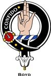 Boyd Clan Crest Badge from www.4crests.com #clan #crests # badges #clans #scottish #scotland #family #badge #crest #tartan #kilt #genealogy #heraldry #family