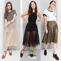 """32 curtidas, 2 comentários - Capitulinas (@capitulinas) no Instagram: """"As saias plissadas, em alta desde o verão, e as de tule, onipresentes na Paris Fashion Week, também…"""""""