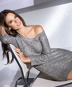 INC International Concepts Metallic Snake-Print Tunic Sweater Brazilian Supermodel, Brazilian Models, Alessandra Ambrosio, Grey Fashion, Fashion Models, Women's Fashion, Brunette Girl, Brunette Beauty, Mode Style