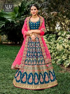 Rs8,850.00 Raw Silk Lehenga, Pink Lehenga, Bridal Lehenga Choli, Silk Dupatta, Banarasi Lehenga, Bridal Lehenga Online, Lehenga Choli Online, Lehenga Skirt, Lehenga Blouse