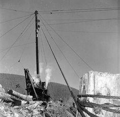 Loading Logs with a Spar Pole - c. 1925 | Trains - Logging ...