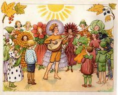The fairytale art of Elsa Beskow Elsa Beskow, Pixie, Vintage Book Art, Cicely Mary Barker, Fairytale Art, Scandinavian Art, Nordic Art, Flower Fairies, Children's Book Illustration
