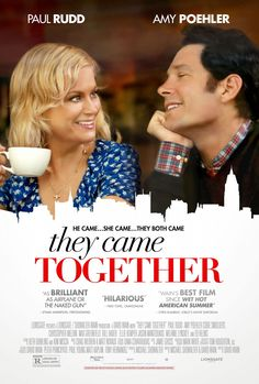 THEY CAME TOGETHER movie review starring Amy Poehler, Paul Rudd, Ed Helms, Cobie Smulders, Bill Hader, Ellie Kemper, and Christopher Meloni!
