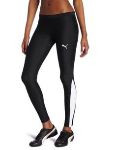 Puma Women's Long Tight, Black, Small by PUMA. $44.99. USP dry fabric wicks away moisture so it can quickly evaporate keeping you dry and comfortable. shaped elasticated wasitband with drawcord for adjustable fit and improved comfort. SHELL 80% polyamid; 20% elastane; warp knitted;  LOWER SIDEPANEL 82% polyester, 18% lycra; warp knitted. inner brief for better fit and improved comfort. inner leg gusset less friction for improved comfort. reflective design transfer enhances v...