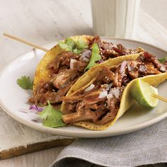 Skinless turkey thighs and drumsticks are packed with flavor; they're also low in fat and high in protein and essential minerals like selenium. Deborah Schneider braises the meat in beer until ultratender, then shreds it for tacos.