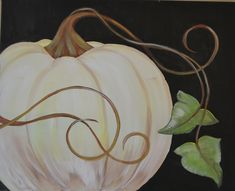 Pumpkin 1 Join us to paint this fun and easy fall painting. I will provide you with the step-by-step instructions and a stencil for the pumpkin. Fall Canvas Painting, Autumn Painting, Autumn Art, Fall Paintings, Pumpkin Painting, Canvas Paintings, Autumn Leaves, Halloween Canvas, Halloween Painting