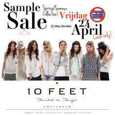 10Feet sample sale -- Amsterdam -- 24/04