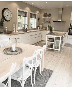 The kitchen is quite large, enough to have a small island . - The kitchen is quite large, enough to have a small island … Informations About Kuchnia jest całki - Home Decor Kitchen, New Kitchen, Interior Design Living Room, Home Kitchens, Island Kitchen, Kitchen Small, Timeless Kitchen, Best Kitchen Designs, Cuisines Design
