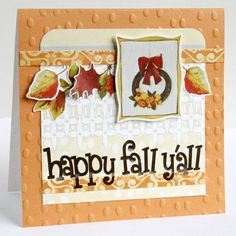 Happy Fall Y'all Classic Autumn Stickers Card Project Idea from Creative Memories  http://www.creativememories.com