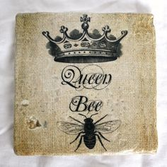 Antique Queen Bee Crown Script Illustration by AntiqueGraphique, Image Paris, Emoticons, Tatoo Art, Tattoo Bird, Bee Tattoo, Queen Crown, Bee Art, Save The Bees, Bee Happy
