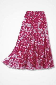 Coldwater Creek Rose Border Print Skirt Sz S New! Was $100.