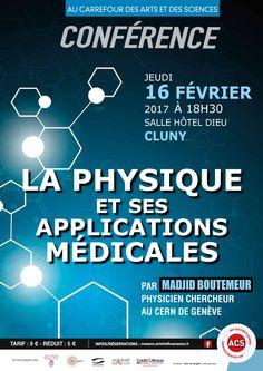 """Conférence """"La physique et ses applications médicales"""" le 16 février 2017 à Cluny : http://clun.yt/2bOzdR2"""