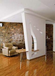 15 enchanting & modern gypsum board tv wall unit - top