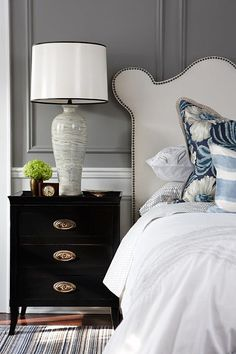 .night table and bedding combination...