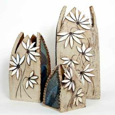 Daisy Cathedral Vases by Maggie Betley Zoo Ceramics