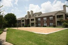 Volley ball court at The Wilson Crossing Apartments in Cedar Hill, TX