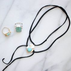 This simple necklace is easily customizable and so on trend!