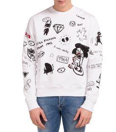 Bedruckte Sweatshirt mit Roundausschnitt