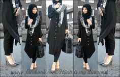Black Diamond Hijab style discovered by ususuwqq Modest Fashion Hijab, Modern Hijab Fashion, Street Hijab Fashion, Muslim Women Fashion, Casual Hijab Outfit, Arab Fashion, Islamic Fashion, Fashion Outfits, Hijab Chic