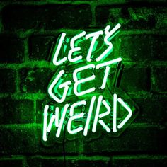 Let's get weird.  #StandardProducts #Montreal #Quebec #Ontario #Toronto #Ottawa #Calgary #Alberta #BC #Vancouver #Canada #Quote #Inspiration #Weird #Lighting