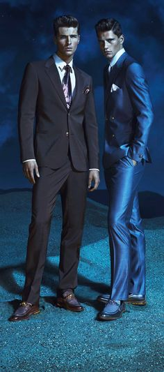 Suits by Versace - I love the shark skin suit!