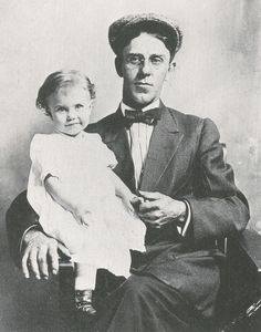 18-Month-Old Ginger Rogers with her Father, William Eddins McMath -=- Baby Ginger, Adorable at Every Age <3