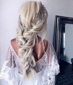 Wedding Hairstyles For Long Hair, Wedding Hair And Makeup, Braided Hairstyles, Prom Hairstyles, Trendy Hairstyles, Hairstyle Wedding, Hairstyle Ideas, Hair Ideas, Wedding Beauty