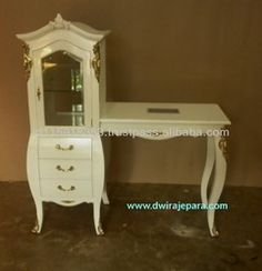 Baroque Furniture Nail Table With Cabinet - Buy Commercial Furniture,Salon Furniture,Nail Tables Product on Alibaba.com