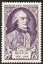 Buffon 1707-1788 Célébrités du XVIIIème siècle - Timbre de 1949