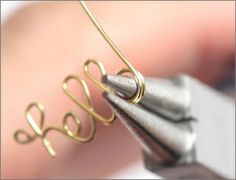 How to make words out of wire. Craft Tutorial: Wire Word Rings t14