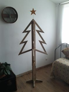 My pallet christmas tree #Christmas, #RecycledPallet, #Tree