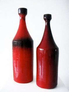 Wouter Harvey: Leon Goossens Bottle Vases . 1960's