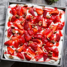 Strawberries and Cream Icebox Cake will be a hit on your summer dessert table!