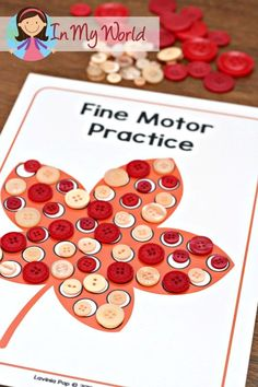 FREE Autumn / Fall Preschool Centers: Autumn leaf fine motor activity