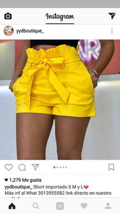Discover thousands of images about ideas clothes yellow jeans Short Outfits, Outfits For Teens, Chic Outfits, Trendy Outfits, Short Dresses, Summer Outfits, Fashion Outfits, Jupe Skater, Yellow Jeans