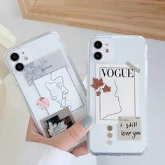 Read the full title Artistic Face Letter Phone Case For iPhone 'vogue'