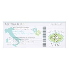 >>>Order          Boarding Pass to Italy Wedding Invitation           Boarding Pass to Italy Wedding Invitation We have the best promotion for you and if you are interested in the related item or need more information reviews from the x customer who are own of them before please follow the lin...Cleck Hot Deals >>> http://www.zazzle.com/boarding_pass_to_italy_wedding_invitation-161753971806124375?rf=238627982471231924&zbar=1&tc=terrest