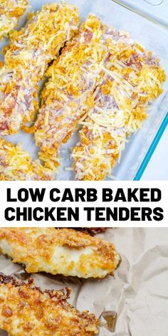 Enjoy a low carb version of breaded chicken strips with this baked chicken tenders recipe easy and delicious and great for low carb gluten free or keto diets chickenrecipes lowcarb baked healthyrecipes dinner honey butter garlic chicken Chicken Strip Recipes, Chicken Tender Recipes, Recipes For Chicken Tenders, Baked Chicken Tenders, Breaded Chicken, Baked Chicken Strips, Best Low Carb Recipes, Favorite Recipes, Healthy Recipes