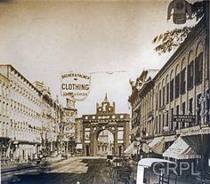 Centennial Arch on Monroe Ave (~33 Monroe) - 1876