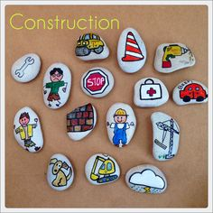 Story Stones Construction mix by LittlebyNature on Etsy
