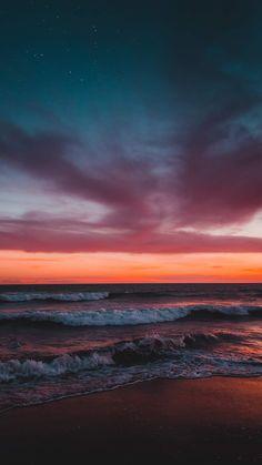 Sunset on the beach Sonnenuntergang am Strand mir Ocean Wallpaper, Cute Wallpaper Backgrounds, Pretty Wallpapers, Nature Wallpaper, Mobile Wallpaper, Aesthetic Backgrounds, Aesthetic Iphone Wallpaper, Aesthetic Wallpapers, Beauty Iphone Wallpaper