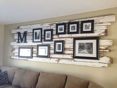 Ship's Driftwood Gallery Wall Mount with paint instead of frames