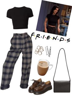 Monica Geller Outfit # 3 - Jahre Mode Outfits - The Effective Pictures We Offe Vintage Outfits, Retro Outfits, Grunge Outfits, 90s Style Outfits, Hipster School Outfits, Fashion Vintage, Vintage Hipster, Vintage Stil, Mode Outfits
