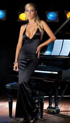 Long Elegant V Front Dress